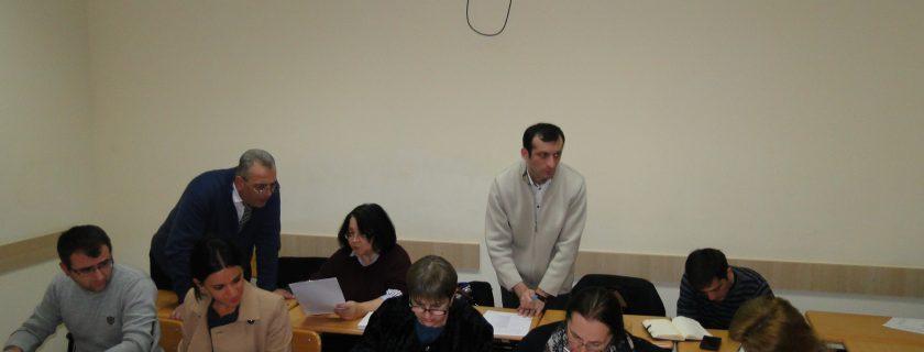 სამუშაო შეხვედრა აკადემიის პროფესორ-მასწავლებლებთან