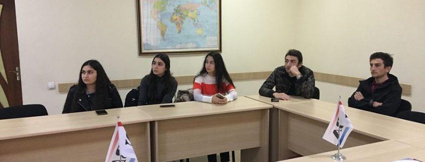 ბიზნესის წარმომადგენლების შეხვედრა ინფორმაციის ტექნოლოგის სტუდენტებთან