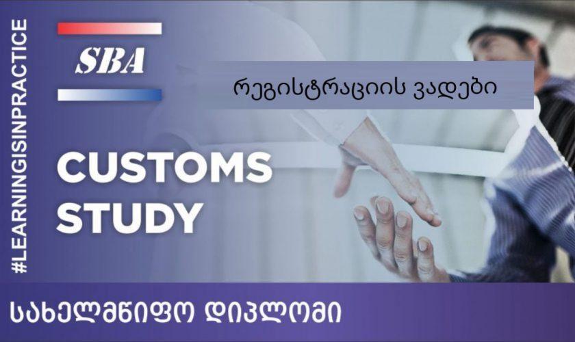 საბაჟო საქმის ინგლისურენოვანი პროფესიული საგანამანთლებლო პროგრამა